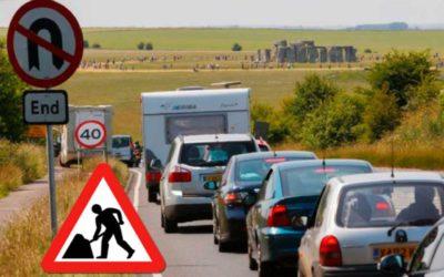 Lane closures at Countess roundabout