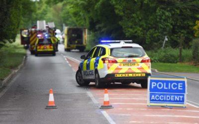 Man dies in road collision