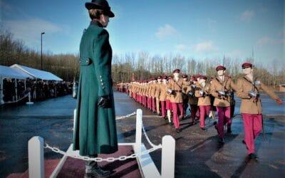 King's Royal Hussars parade