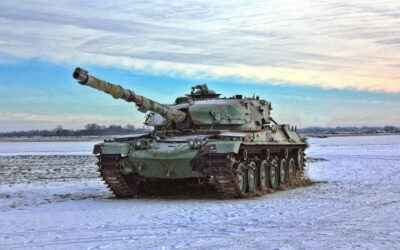 Tank overturns in training exercise